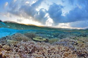Sunset in Maldives by Oscar Miralpeix