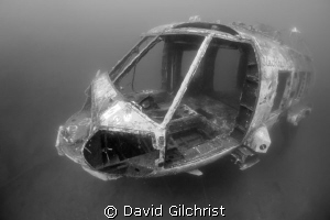 Blackhawk Down- Helicopter in Lake Rawlings, Virginia by David Gilchrist