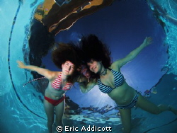 Mother and daughter love the water. by Eric Addicott