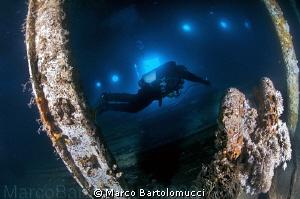 Into the garage of the ferry Cariddi. Messina Sicily by Marco Bartolomucci