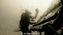 Candid shot of diver taking photo at Tioman Island, Malaysia by Munawir Muslim