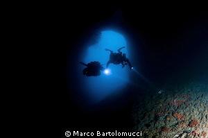 ISCA CAVERN near Positano Italy by Marco Bartolomucci