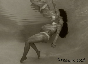 My first picture of my unborn child underwater.  Future d... by Juan Torres
