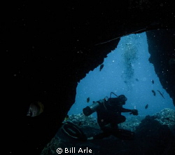Coming out of the lava tube by Bill Arle