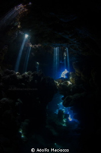 Playing with lightrays @ Jackfish alley (Ras Mohamed Nati... by Adolfo Maciocco