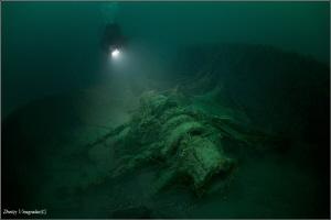 Sakko&Vanzetti wreck  40 meters deep. Water Temp. +8C by Dmitry Vinogradov