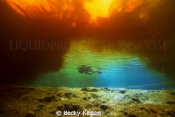 Fire and ice all found in one location underwater! by Becky Kagan