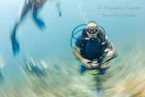 Scooby Diver with effect, Xcalac Mexico by Alejandro Topete