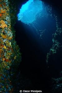 """""""El Dofí"""" cave, Medes Islands by Oscar Miralpeix"""