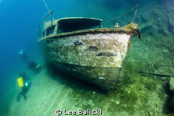 A shot taken at Capernwray Inland Dive Site. The wreck is... by Lee Balicki