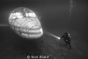 Jet Plane and Diver, Capernwray. by Nick Blake
