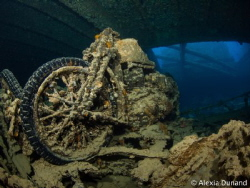 Riding underwater! 