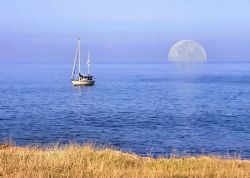 Kahe Point - Moon Rise...composition. Oahu Hawaii. by Glenn Poulain