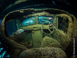 A truck that will never drive again. SS Thistlegorm, Red... by Alexia Dunand