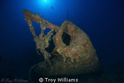 Bow of the USS Emmons. by Troy Williams