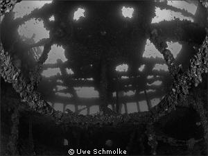 Inside the wreck -  Have fun watching. by Uwe Schmolke