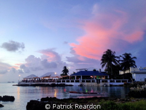 Après dive dinner view.  Georgetown, Grand Cayman. by Patrick Reardon