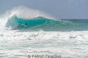 Big wave action.  Pipeline, North Shore, Oahu. by Patrick Reardon