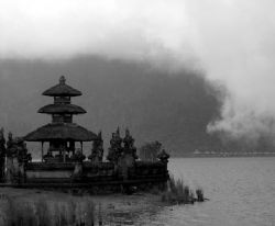 Temple, Lake Bratan - Bali by Penny Murphy