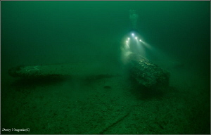 Black Sea. Russia. Novorossiysk. 40 meters deep. Curtiss... by Dmitry Vinogradov