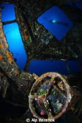 Cockpit of C-47 Dakota plane wreck in Bodrum/Turkey by Alp Baranok