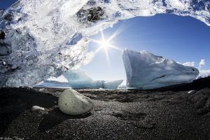 ice on the beach by Mathieu Foulquié