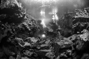 unexplored icelandic lava fault by Mathieu Foulquié