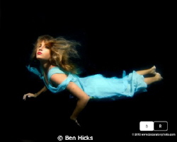 Shot in my pool, black background and 3 strobes.  Daylight. by Ben Hicks