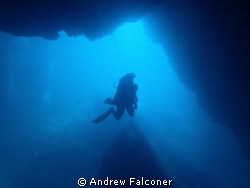 Taken at the Blue Hole, Belongas bay, Lombok, which was a... by Andrew Falconer