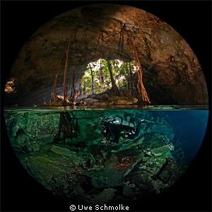 Two worlds in a single image. by Uwe Schmolke