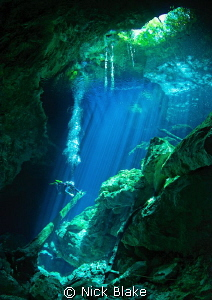 A shot from Taj Maha Cenote, Yucatan, Mexico by Nick Blake