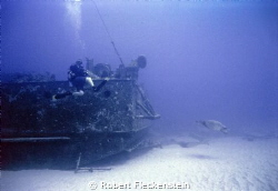 "The ""Sea Tiger Wreck"" off Kewalo Basin, near Honolulu, Oa... by Robert Fleckenstein"