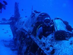 This is a 1942 Corsair that crash landed a half mile of t... by Ron Thomas