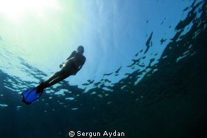 Free diver by Sergun Aydan