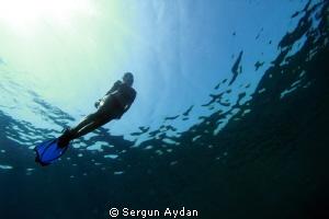 Free diver by Sergun Aydan
