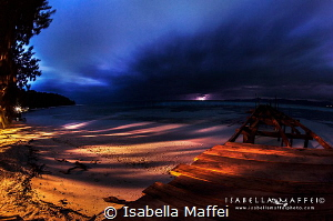 """""""THE QUIET STORM"""" Raja Ampat, night photography by Isabella Maffei"""