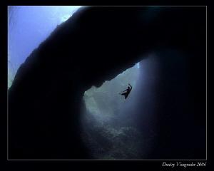 Magic Flight  Malta. Blue Hole. by Dmitry Vinogradov