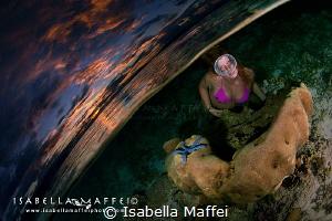 """WAI: THE UNDERWATER QUARTER"" Raja Ampat, Marti model shot by Isabella Maffei"
