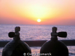 """""""Air of sunrise"""" Sunrise on the way to Thistlegorm's Wreck by Cinzia Bismarck"""