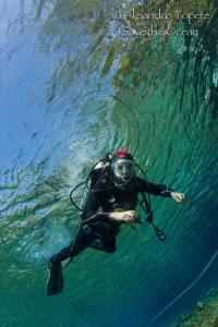 Diver in the Sky, Las Estacas Mexico by Alejandro Topete