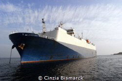 """""""THE SWEET LADY""""  Sweet Lady is a japanese cargo ship th... by Cinzia Bismarck"""