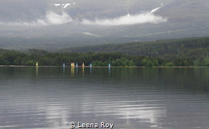 Rain on Loch Etive by Leena Roy