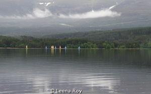 Rain on Loch Etive by Leena Roy