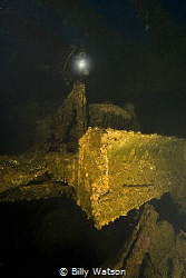 Bulldozer in the cargo holds of the Hoki Maru Canon 30D,... by Billy Watson