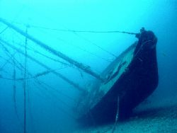 A wonderfull sailor wreck full equiped 20 m long in La ci... by Dourieu Charles