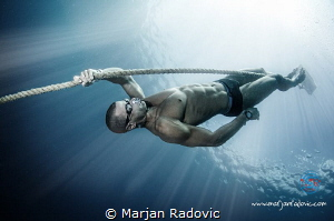 Freediver - Domagoj Jakovac - world champ under Ice diving by Marjan Radovic