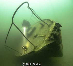 Diving The Podsnap at Capernwray, UK by Nick Blake