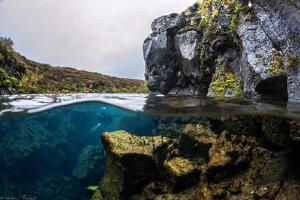 unexplored icelandic lava crack by Mathieu Foulquié