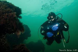 Diver Inspecting Ancient Wreck Runuchi by Henrik Gram Rasmussen