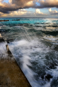 stormy weather (Rangiroa - pension Cécile) by Mathieu Foulquié